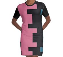 Puzzled Graphic T-Shirt Dress