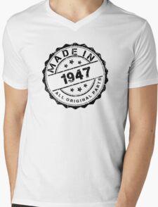 MADE IN 1947 ALL ORIGINAL PARTS Mens V-Neck T-Shirt
