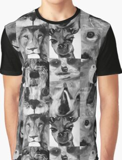 Animal Portraits Graphic T-Shirt