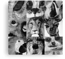 Animal Portraits Canvas Print