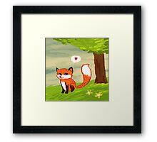 Cute Fox Framed Print