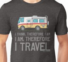 I Am Therefore I Travel Unisex T-Shirt