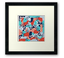 Abstract Mermaid Scales Framed Print