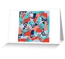 Abstract Mermaid Scales Greeting Card