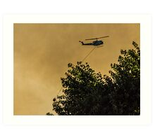 Firefighters in the Sky Art Print