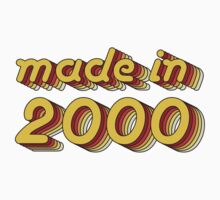 Made in 2000 (Yellow&Red) Kids Clothes