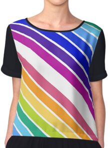 At the End of The Rainbow Stripes Chiffon Top