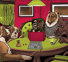Dogs Playing Dungeons and Dragons by Brandon Matlock