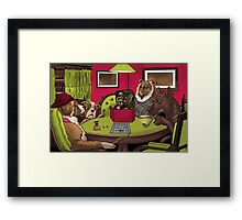 Dogs Playing Dungeons and Dragons Framed Print
