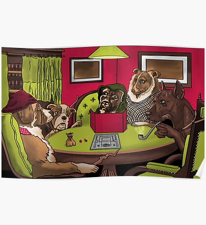 Dogs Playing Dungeons and Dragons Poster