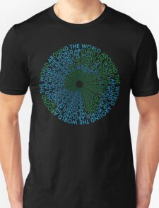 Around the World - Blue, Green T-Shirt