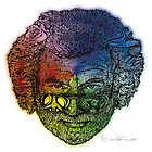 Jerry Face / Jerry Garcia portrait colorized #1 by David Sanders