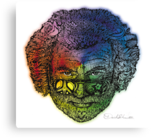 Jerry Face / Jerry Garcia portrait colorized #1 Canvas Print