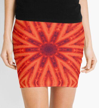 Orange & Purple Mini Skirt