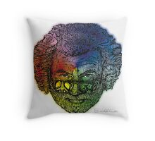 Jerry Face / Jerry Garcia portrait colorized #1 Throw Pillow