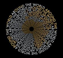 Around the World - Gold, Silver by Amanda Rekdal