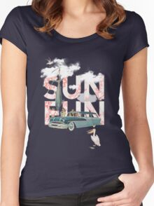 Sun Fun Women's Fitted Scoop T-Shirt