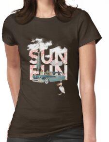 Sun Fun Womens Fitted T-Shirt