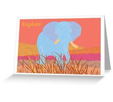 African Safari - Explore Greeting Card