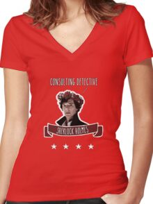 Consulting detective Sherlock Holmes Women's Fitted V-Neck T-Shirt