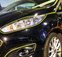 Black and Yellow Fiesta Sticker