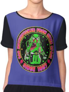 Bad Mofo from Outer Space Colour Chiffon Top