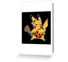 Cavemen mouse Greeting Card