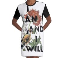 I Can And I Will Graphic T-Shirt Dress