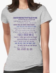 10 Things I Hate About You Womens Fitted T-Shirt
