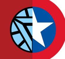 Iron man vs. Cpt America (fan art) Sticker