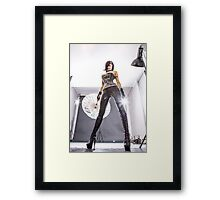 Glycerin low angle view  Framed Print