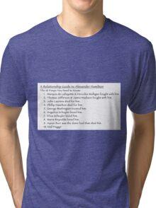 A Relationship Guide to Alexander Hamilton (Version 2) Tri-blend T-Shirt
