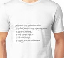 A Relationship Guide to Alexander Hamilton (Version 2) Unisex T-Shirt