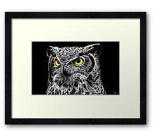 Painted Fractal Owl Framed Print