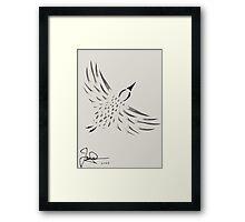 The Flying Bird Framed Print