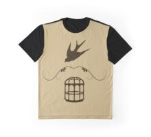 Bird or Cage Graphic T-Shirt