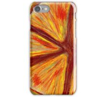 Orange segment iPhone Case/Skin