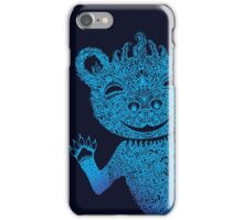 Turquoise Bear Goes Boom iPhone Case/Skin