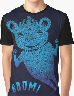 Turquoise Bear Goes Boom Graphic T-Shirt