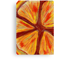 Orange segment Canvas Print