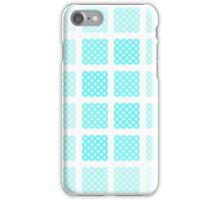 Blue polka-dot hatched phone case iPhone Case/Skin