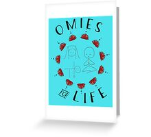 Omies for Life - Yoga Apparel Greeting Card