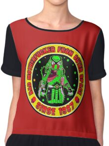 Bad Mofo from Outer Space Colour 2 Chiffon Top