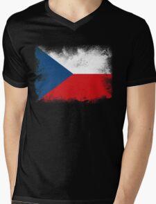 Czech Mens V-Neck T-Shirt
