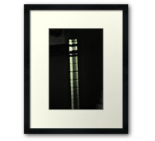 Experiment in the dark Framed Print