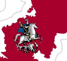 Flag Map of Moscow Sticker