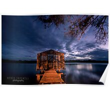 Tiny boathouse on the river, Maroochy River Queensland Poster