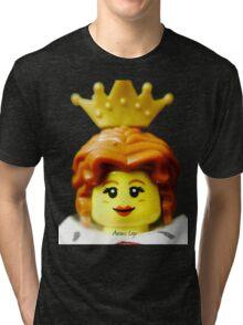 Lego Queen minifigure Tri-blend T-Shirt