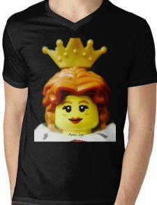 Lego Queen minifigure Mens V-Neck T-Shirt