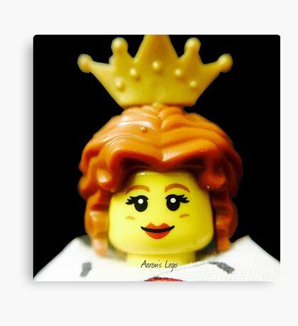 Lego Queen minifigure Canvas Print